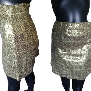 Pink tartan squin Bling body con gold and green